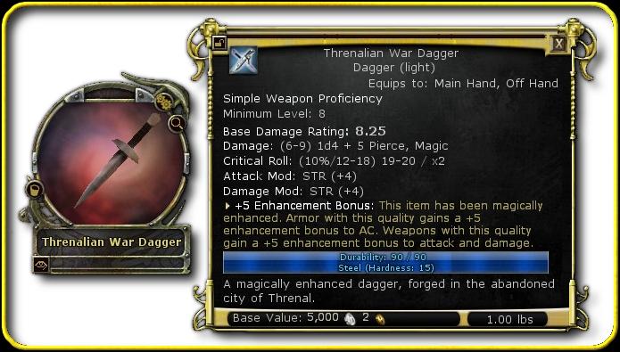 A +5 dagger