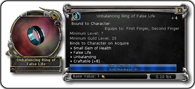 First successfully crafted item