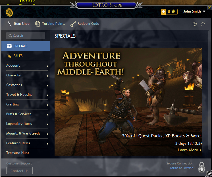 New Store Coming Soon | The Lord of the Rings Online