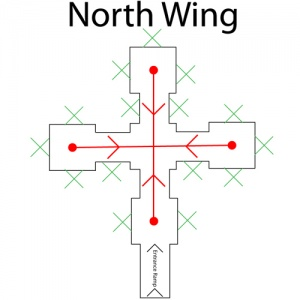 North Wing Map